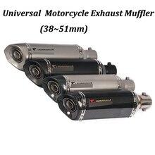 38~51mm Motorcycle Exhaust Muffler Modified with DB Killer For PCX150 CBR125 CBR150 MSX125 M3 MSX125SF CBR250 CBR300R