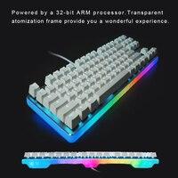ГК. 87 PRO механическая клавиатура без ключа 87 клавишсветодиодный светодиодная RGB подсветка Проводная Механическая игровая клавиатура Вишнев