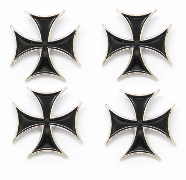 Wholesale Lot of 12 Iron Cross Maltese Cross Lapel Hat Pins FAST USA SHIPPING