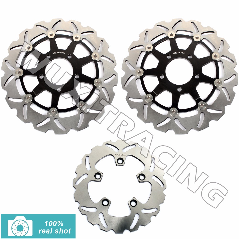 3pcs Motorcycle New Full Set Front Rear Brake Discs Rotors for SUZUKI SV 650 2003-2010 04 05 06 07 08 09 SV650 S 03-12 2011 2012