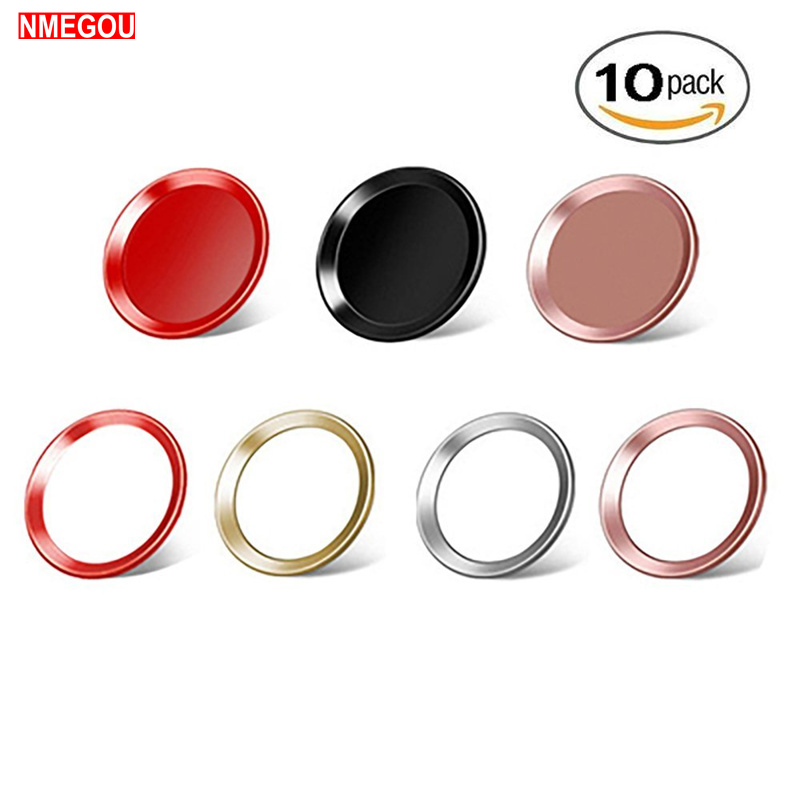 10 PCS Fingerprint Touch ID Home Button Sticker for Apple IPhone 5 5S SE 6 S 6S 7 8 Plus IPad Mobile Phone Sticker Skin Gold Red image