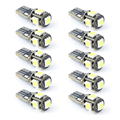 10PCS T10 Wedge Type W5W 194 168 5050 5-SMD 12V LED Car Lights Canbus Error Free Great Brightness For Dome Trunk Parking Lights