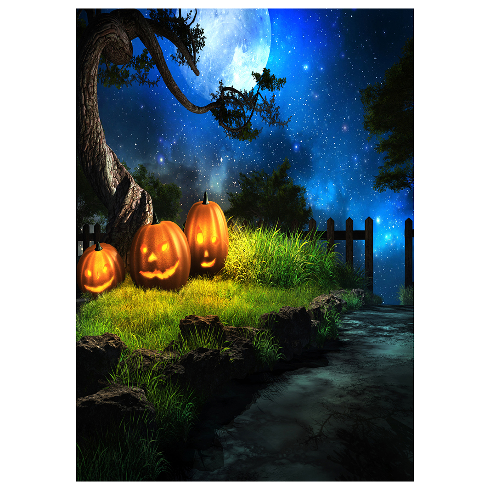 Compare prices on vinyl fence lights online shoppingbuy low vinyl photography background photo backdrops magic theme horror night wooden fence lawn tree baanklon Image collections