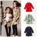 2016 девочки классический плед пальто капюшоном куртки детская верхняя одежда наряды девушки толстовки дети тренчи