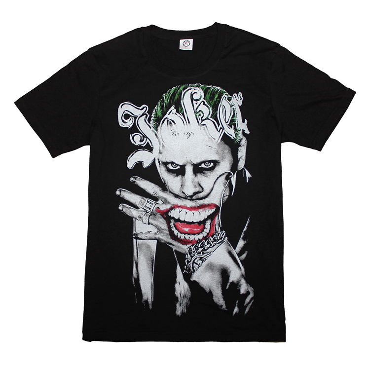 new film suicide squad t-shirt joker harley quinn t shirt short sleeve tees men women tops-2