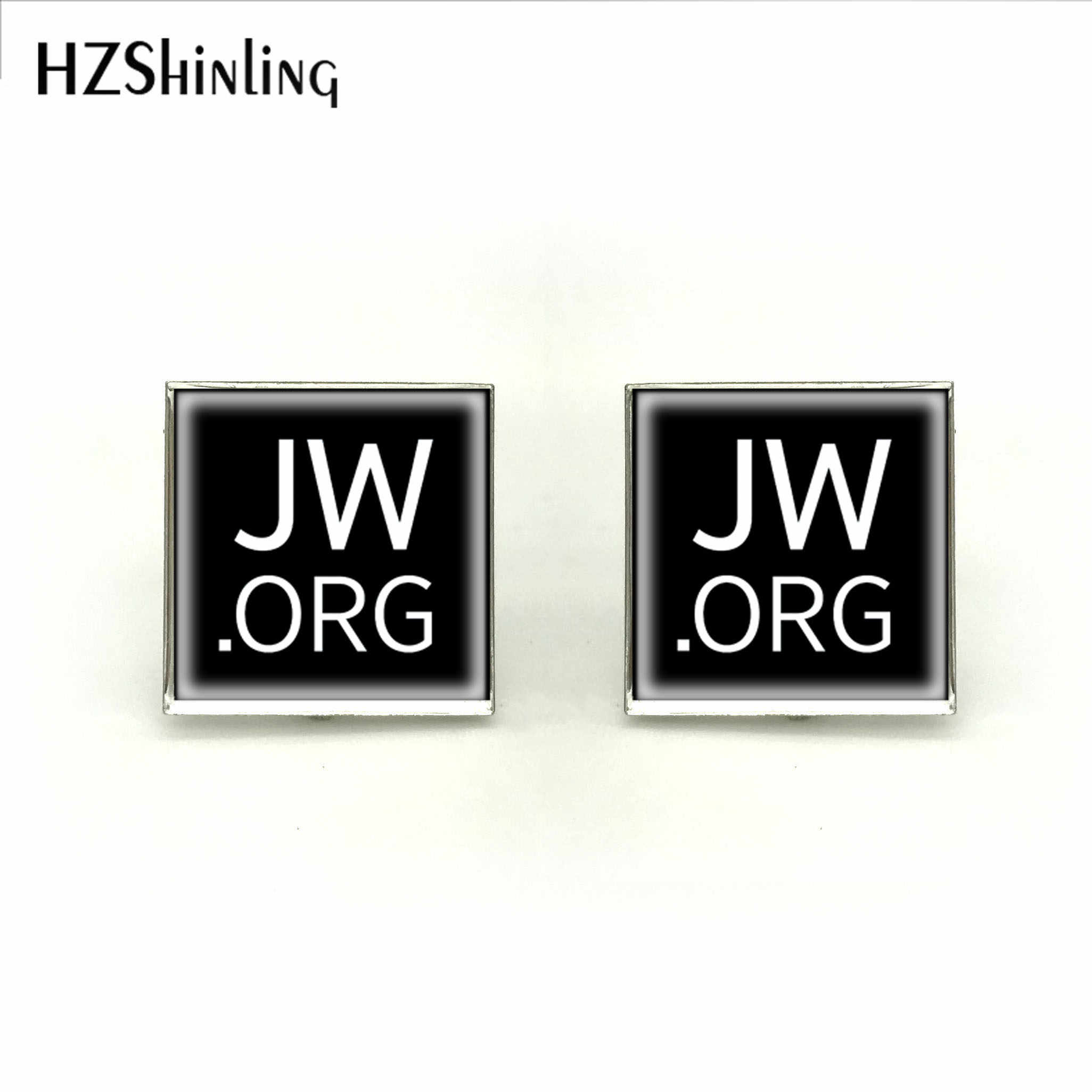 2018 New Square JW.ORG Cufflink Sympol Cufflinks High Quality Brand Silver Handmade Jewelry For Mens Wedding Cuff
