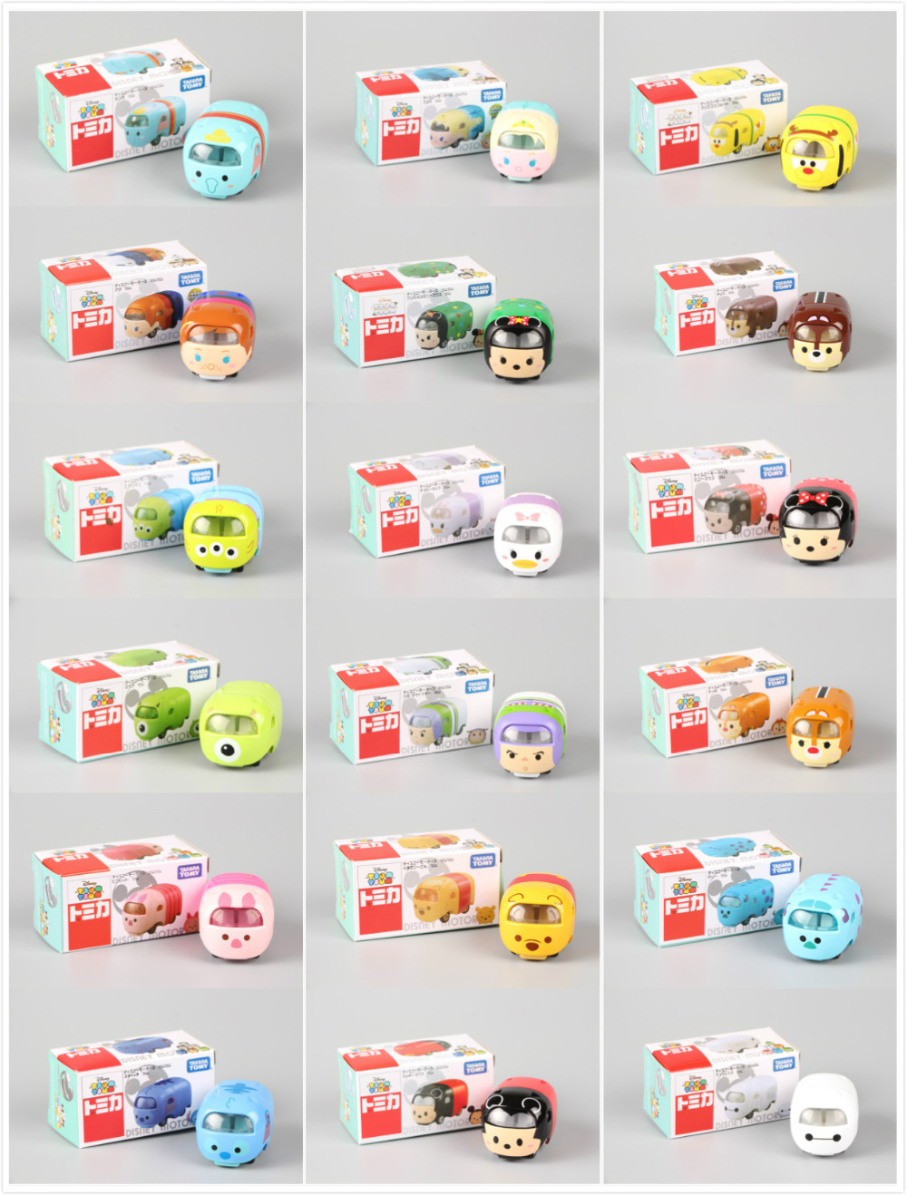 Tomy Tomica Motors Tsum Tsum Diecasts Cartoon Cars Cute Stackable Alien Stitch Dale Mike Piget Baymax tomica тротуар для трассы