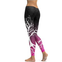 Autumn and winter Slim digital printing feet pants leggings women wear sports yoga free shipping