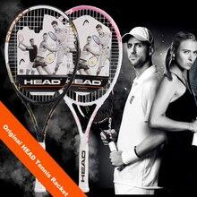 Оригинальная головная Теннисная ракетка, углеродная Теннисная ракетка с сумкой, наматывающая теннисная струна, Tenis Masculino, ракетка для тренировок, ракета для тенниса