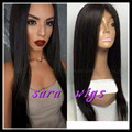 Cosplay wigs Fast Delivery African American Wigs Natural Black Long Yaki Straight Synthetic Wigs For Black Women Wholesale Price