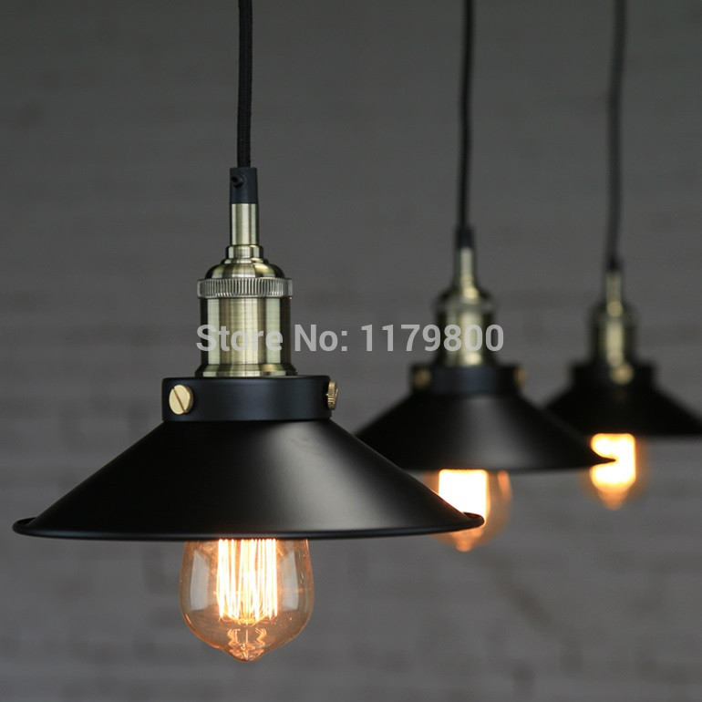 Freeshipping Retro Vintage Industrial Style Metal Ceiling Light Lamp With Edison Bulb E27 Restaurant Cafe Home