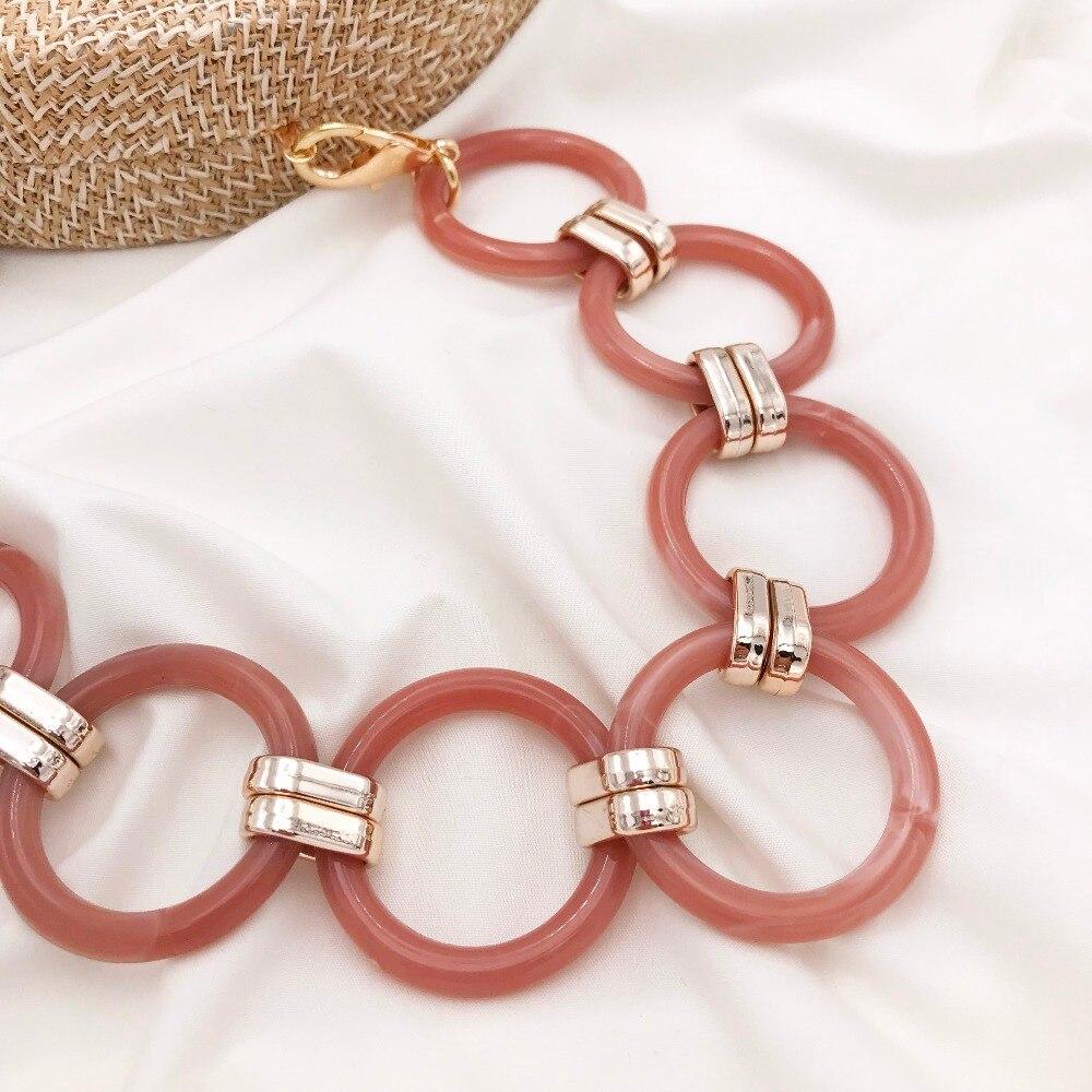 1 Pc 60 Cm Abnehmbare Ersatz Schulter Gurt Tasche Metall Ring Acryl Harz Handtasche Kette Strap Bands Tasche Zubehör