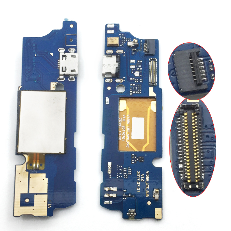 New Dock Connector Charging Port Flex Cable For Wiko View USB Charging Connector Charger Board Repair Parts