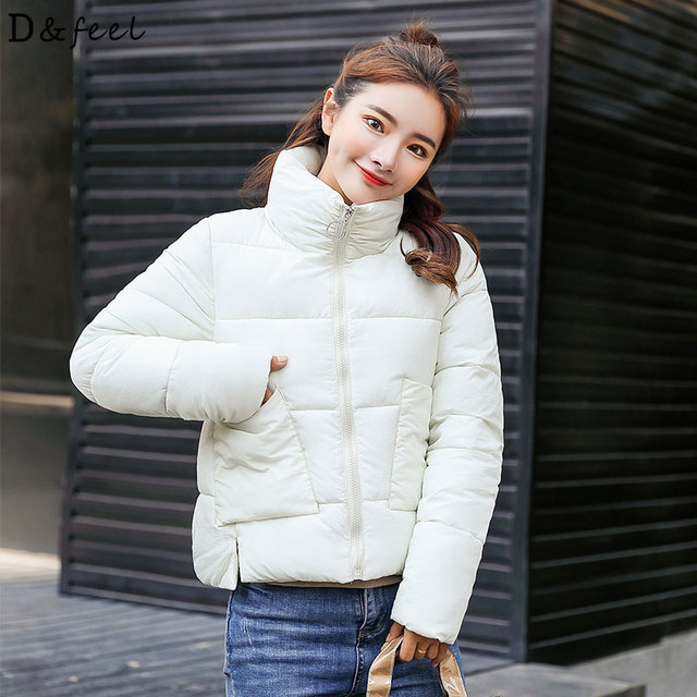 a3f26a300b8 Autumn Winter Puffer Jacket Women Coat 2018 Casual Short Parka Turtleneck  korean Warm Plus Size Ladies Clothing Solid Cotton