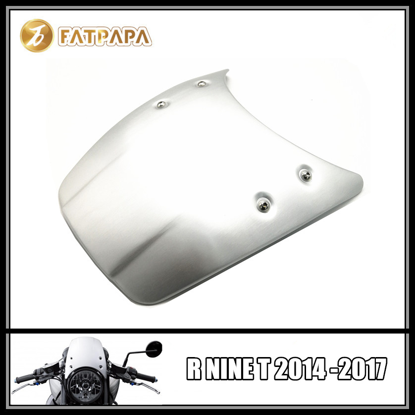 Motorcycle aluminum alloy windshield for BMW R NINE T 2014 2015 2016 2017 Headlight fairing R9T R NINET rsd motorcycle 5 hole beveled derby cover aluminum for harley touring flh t 2016 2017 for flhtcul and flhtkl 2015 2016 2017