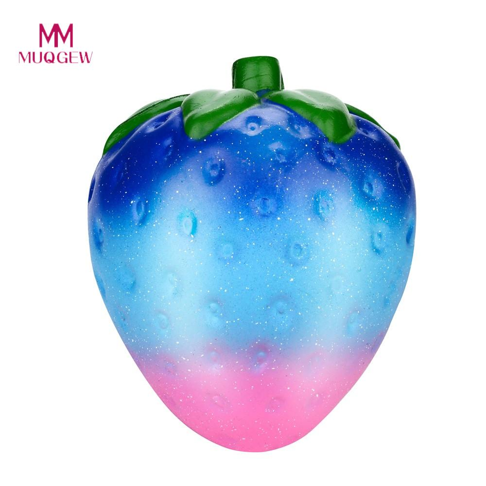 MUQGEW Giant squishy  Jumbo Galaxy Strawberry Scented Squishy Charm Slow Rising Stress Reliever Toys for children In Gags Toys