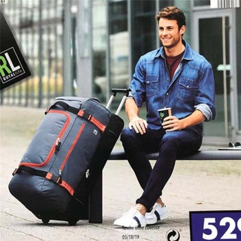 High quality for long trips waterproof 30 inch Large capacity Oxford  rolling luggage bag abroad  folding trolley suitcase