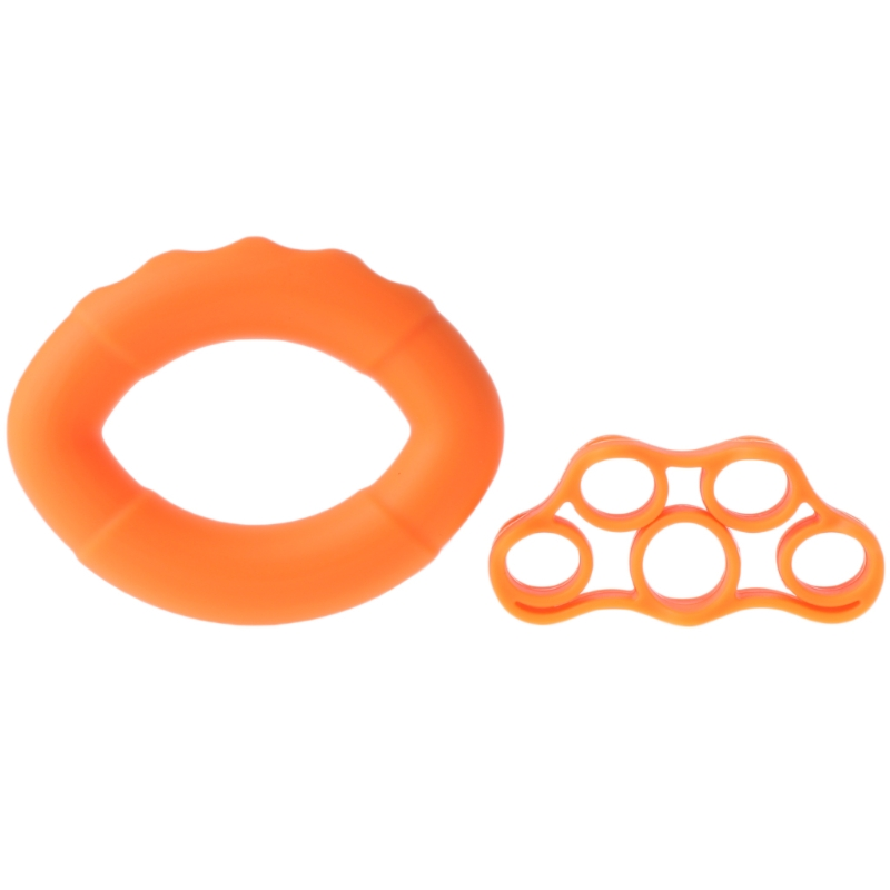 2Pcs/set Silicone Hand Grip Strengthener Finger Stretcher Hand Grip Ring