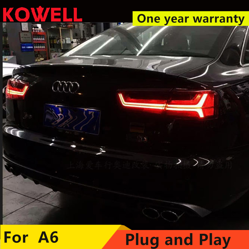 KOWELL car styling For Audi A6 taillights 2012 2013 2014 2015 2018 for A6 rear lights