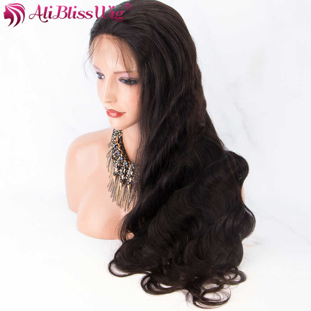 Body Wave Full Lace Human Hair Wigs With Baby Hair Natural Hairline Lace Wig Free Part Brazilian Remy Bleached Knots AliBlissWig