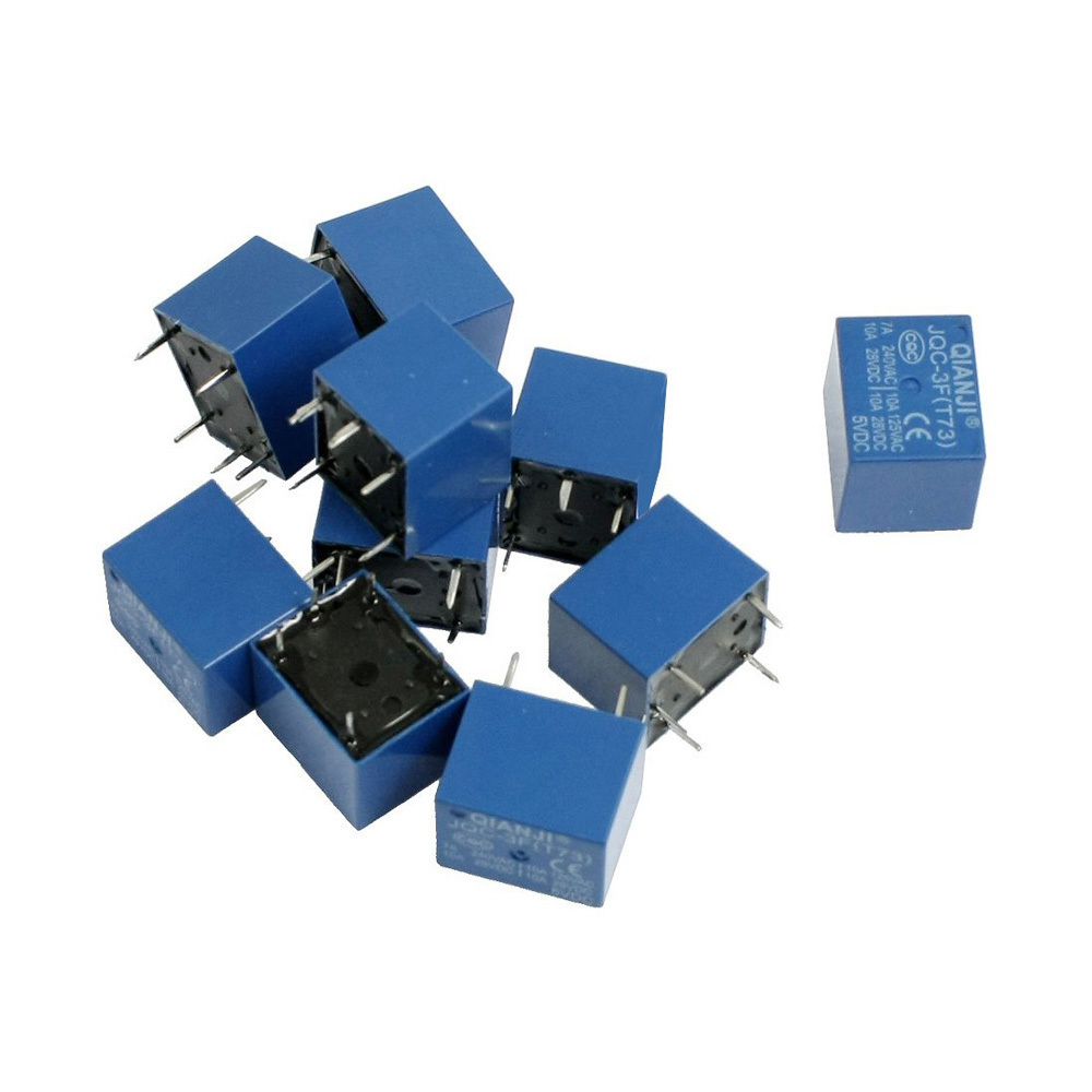 IMC Hot 10 pcs DC 5V Coil 7A 240VAC 10A 125VAC/28VDC 5 Pins SPST Power Relay JQC-3F