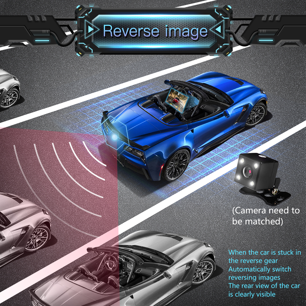 """Image 5 - 7"""" HD Touch Screen Bluetooth Car MP4 MP5 Player Video Audio FM Radio Center Console Rearview Camera Phone Connect Car Displayer-in Car MP4 & MP5 Players from Automobiles & Motorcycles"""