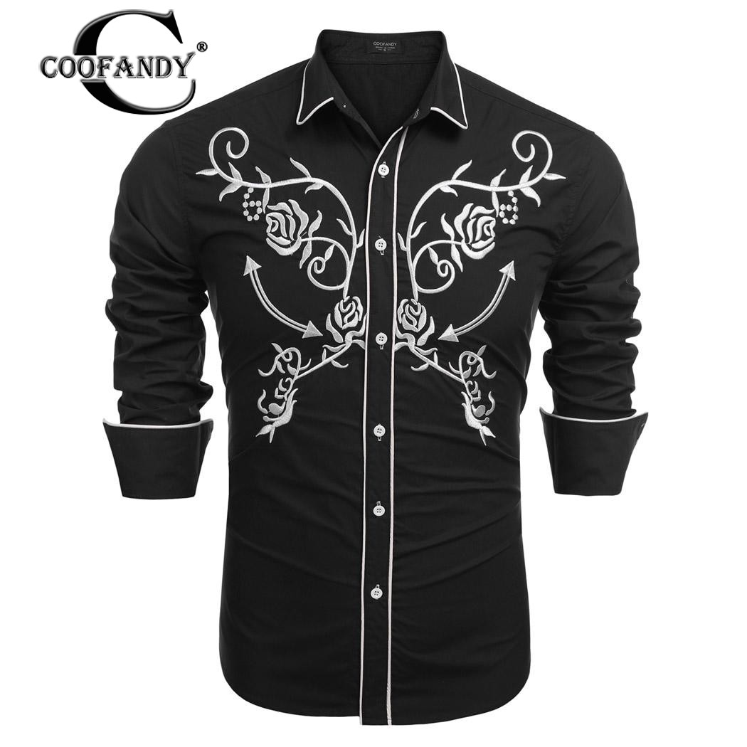 COOFANDY New Arrivals Fashionable Shirts for Men Slim Fit Long Sleeve Embroidery Button Down Casual Shirts ...