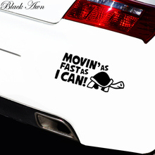 MOVIN AS FAST I CAN Slow Funny Car,Bumper JDM EURO Vinyl Decal Sticker D035