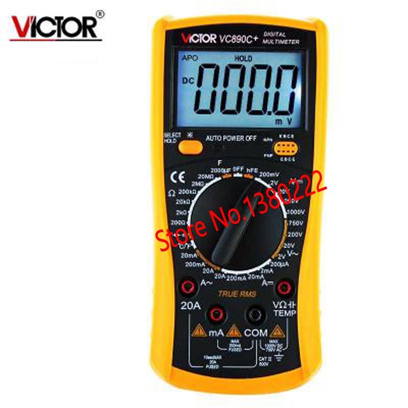 ФОТО VC890C+ LCD Digital Multimeter LCR Capacitance Meter DCV/ACV/DCA/ACA Resistance with Temperature Measurement Ammeter Multitester