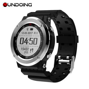 Rundoing Q6 GPS Smartwatch GPS Bluetooth 4.0 Smart Watch Sedentary Remind Information Push Heart Rate Monitor Pedometer g6 tactical smartwatch