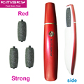 Red New smooth strong foot care tool pedicure electric tools care foot electric & 4pcs roller heads For scholls function KIMISKY