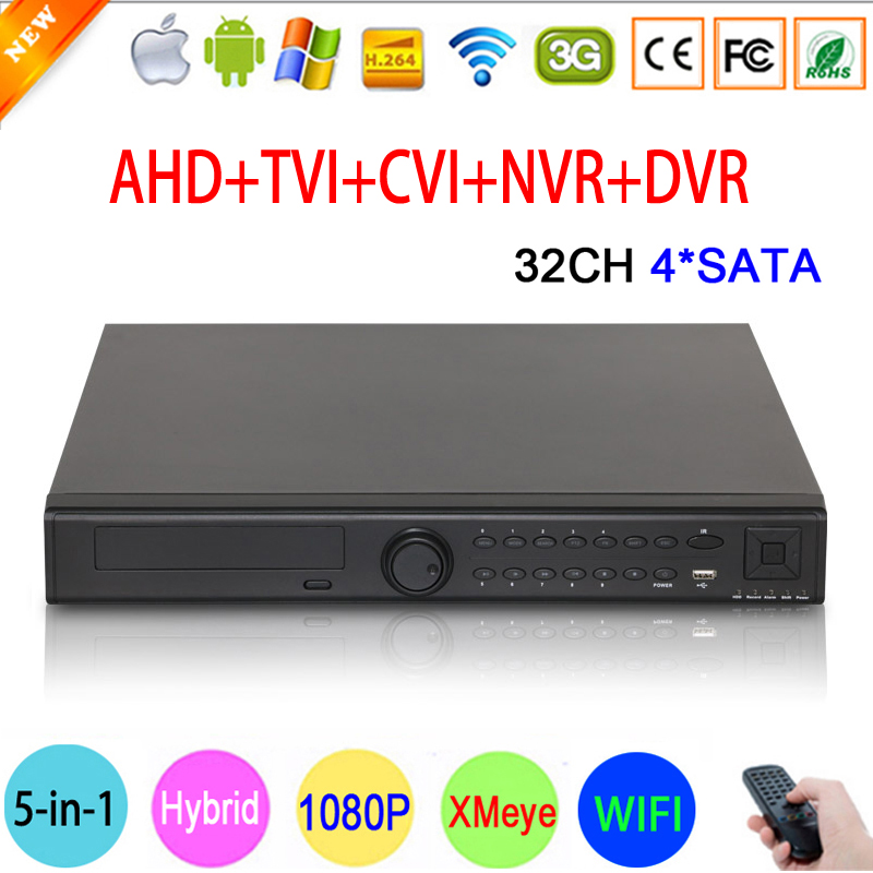HI3531A 4 SATA 32CH 32 Channel Surveillance Video Recorder 1080P CCTV Camera 5 in 1 Coaxial Hybrid IP NVR CVI TVI AHD DVR main picture 01