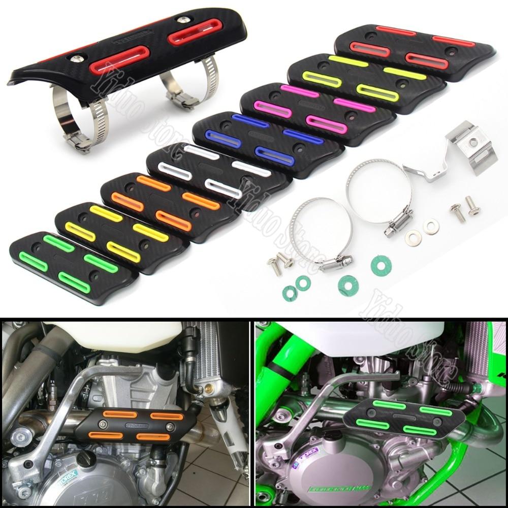 /Nero Un Xin 610/mm Universale Moto Tubo di Scarico Anti Hot Aluminum Exhaust Heat Shield Copertura Leg Protector for Dirt Pit Bike Honda Kawasaki Yamaha K.T.M/