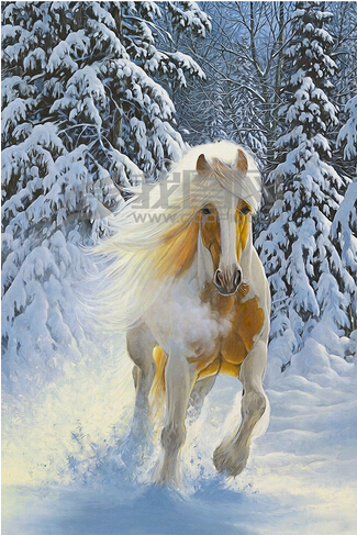 Us 156 48 Offcustom Horse Wallpaper 3dsnow And Horse Painting For The Living Room Bedroom Tv Background Wall Waterproof Silk Cloth Wallpaper In