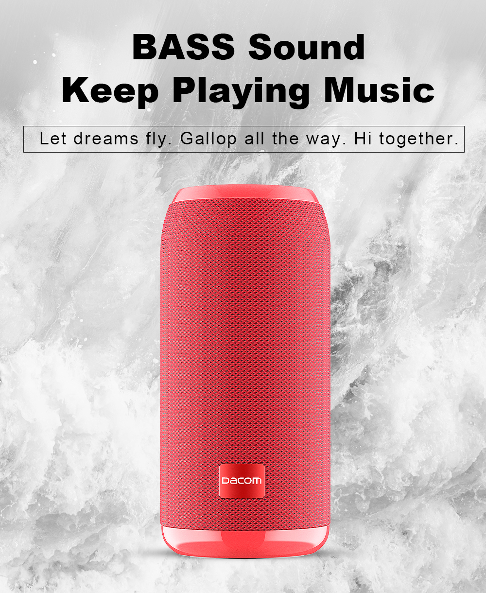 DACOM Q53 Mini Portable Bluetooth Speaker With Bass 3D Stereo Music Sub Woofer And TF Card Support 3