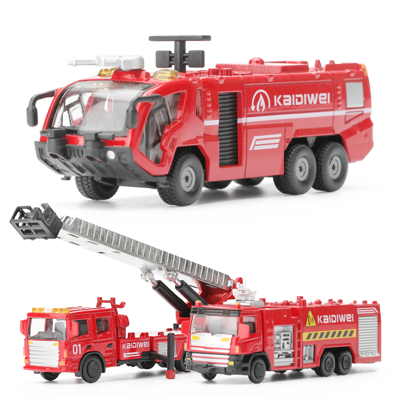 US $7 49 50% OFF|50% discount fire cars,high simulation engineering vehicle  model,1: 72 alloy fire toys,metal castings,free shipping-in Diecasts & Toy