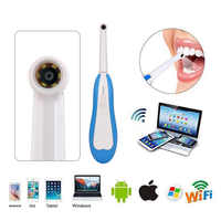 LED Light WiFi Wireless Dental CameraHD Intraoral Endoscope USB Cable Inspection for Dentist Oral Real-time Video Dental Tools
