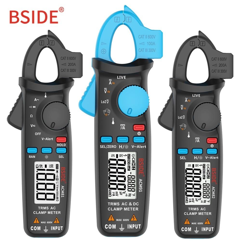 BSIDE True RMS Digital Clamp Meter 1mA Auflösung DC/AC Strom Spannung Tester Auto Range Handheld-Multimeter Elektriker Werkzeug