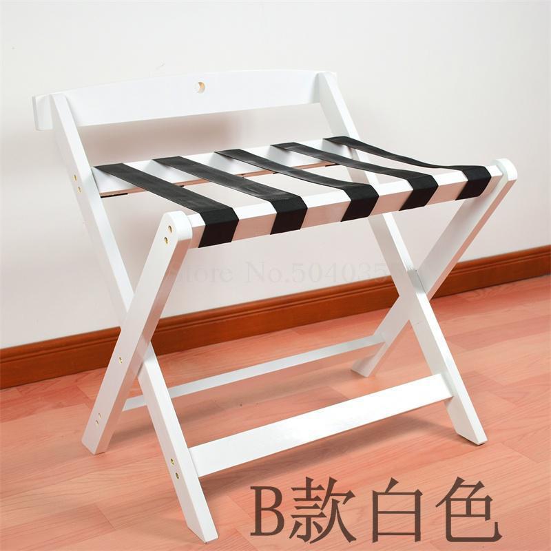 Гостиничная багажная полка мебель для отеля вешалка для спальни напольная Складная Бытовая прикроватная вешалка для одежды деревянный - Цвет: B