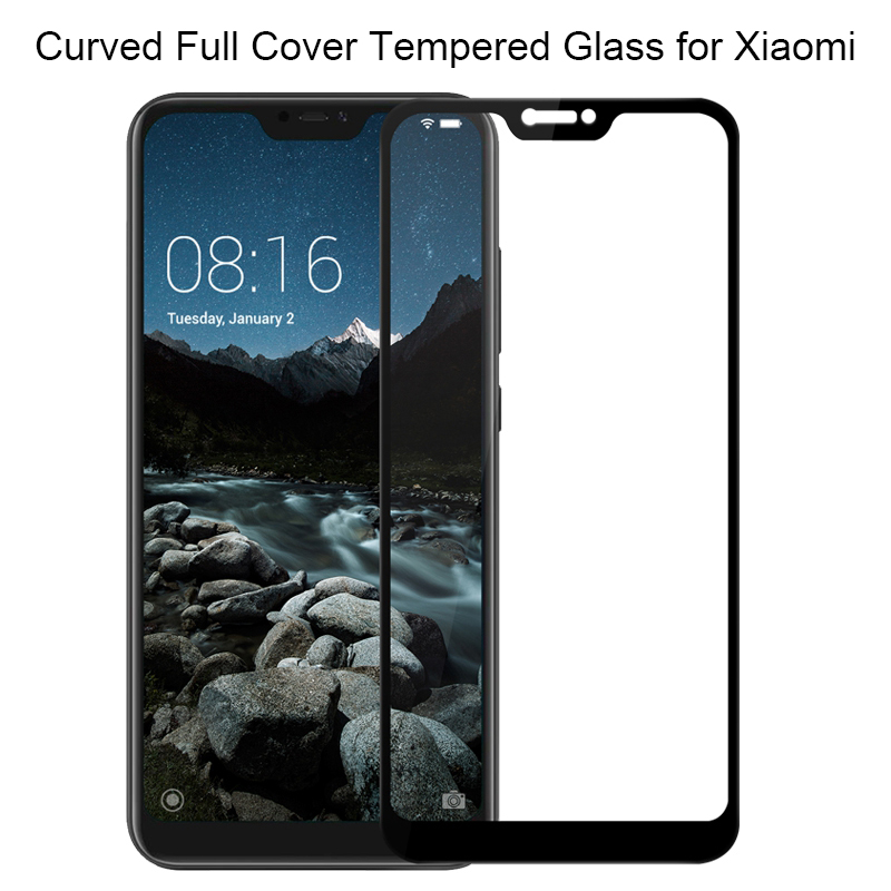 Tempered-Glass Screen-Protector Pocophone-F1 Xiaomi Mi A2-Lite Mi-8 Mi5s For A1 Max