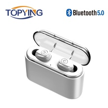 лучшая цена Mini Bluetooth Earphones Wireless Sports Headphones 3D Stereo Headset Noise Cancelling Earbuds with Mic for Xiaomi Huawei Phone