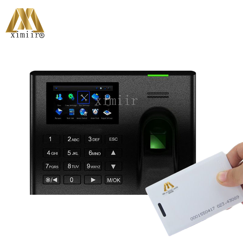 Good Quality High Speed 3 Inch Touch Screen UA100 Fingerprint Time Attendance ID Card Time Recorder With TCP/IP Communication