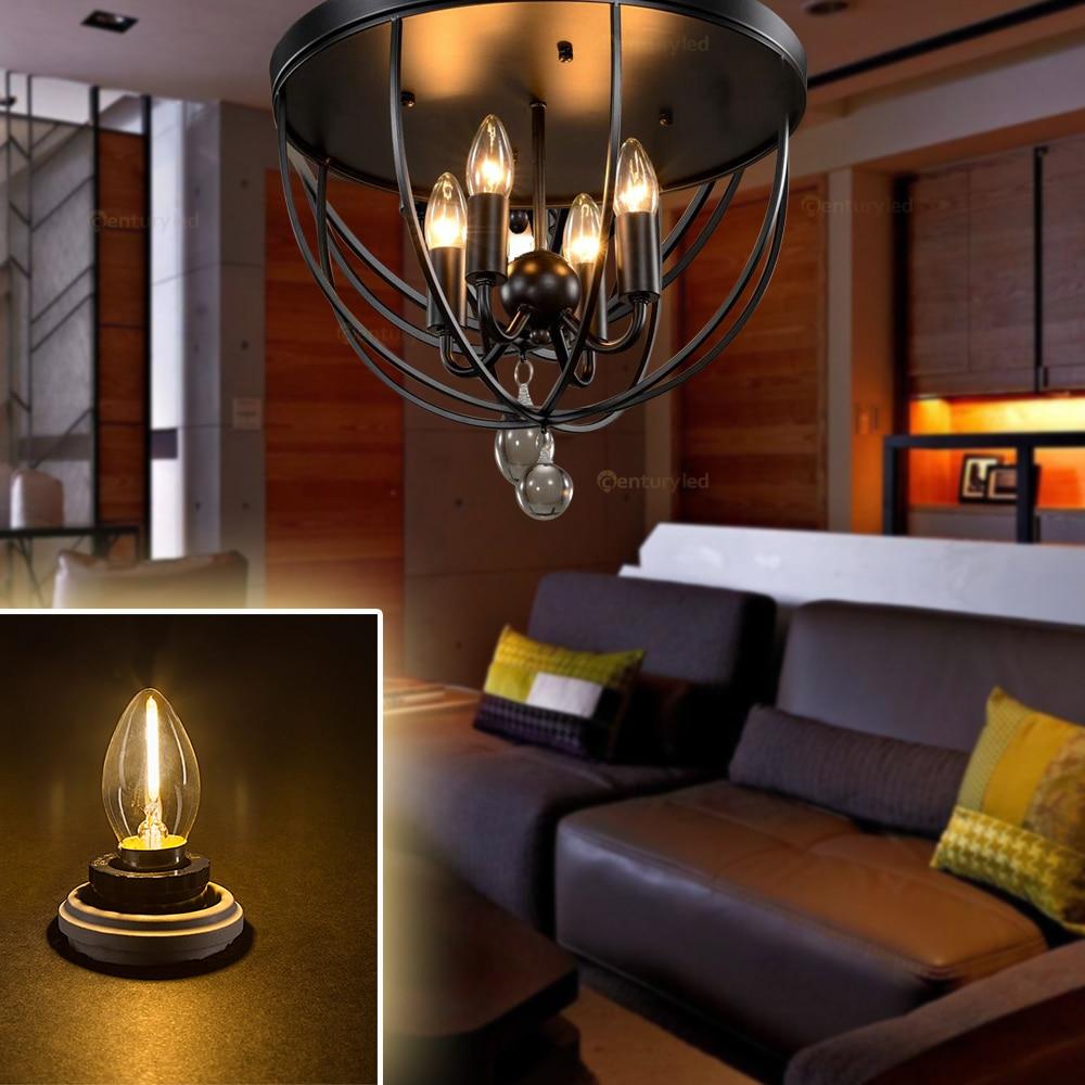 Прозрачная C7 Светодиодная лампа edison 0,5 Вт ретро мини канделябры Лампа накаливания теплый белый 2700K E12 E14 база винтажный ночник с регулируемой яркостью