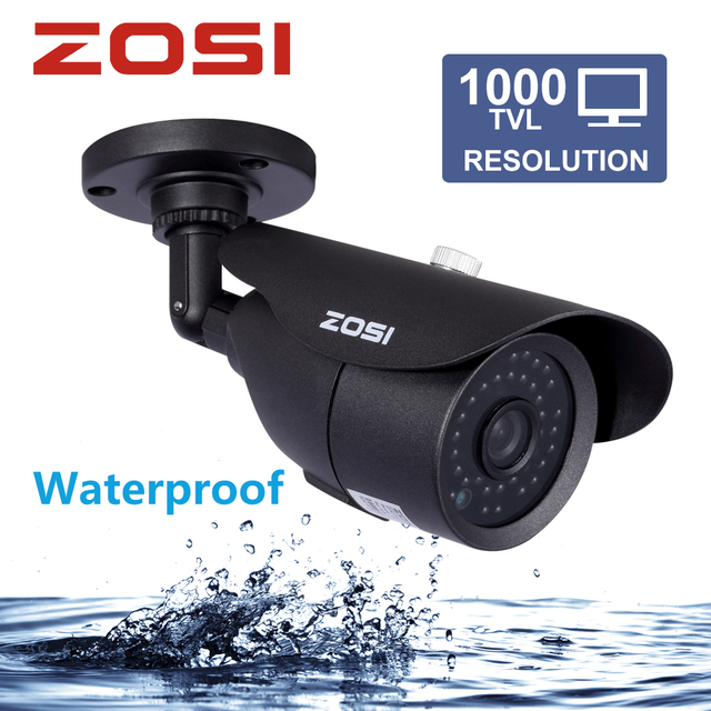 ZOSI HD 960H 1000TVL CMOS 42pcs IR Leds High Resolution Day/night Waterproof Indoor / Outdoor CCTV Camera with Bracket