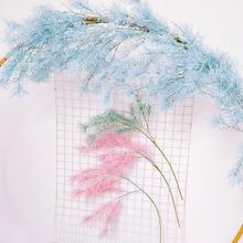 Wedding Road Lead Arch Backdrop Decoration Artificial Rime Flower Romantic Home Party Cedar Pine Stem Branch Plastic Mist Grass
