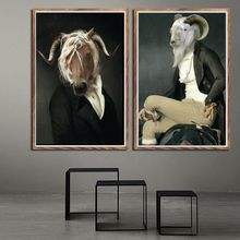Современная картина с изображением лошади, козы, кошки, постеров, настенные художественные картины на холсте, настенные картины для гостиной, домашний декор
