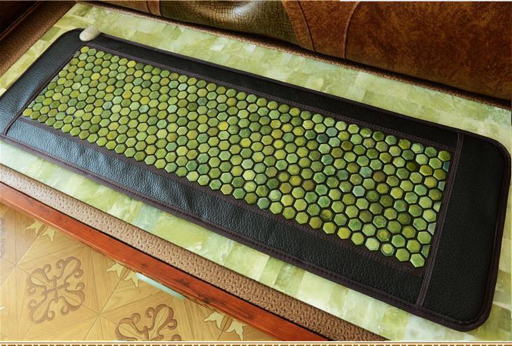 Free shipping jade pad ms tomalin sofa cushion germanium stone care jade heating mattress pad body massage instrument 50 * 150 c 2016 electric heating massage jade stone mattress korean mattress wholesaler 1 2x1 9m