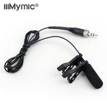 Longue portée insonorisant!! Micro cravate Lavalier condensateur micro pour Sennheiser transmetteur sans fil 3.5mm serrure vis jack