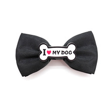 NEW Fashion Solid Color Black Matte Mens Bow Tie I LOVE Dog Bones Confession Lightning Note Women For Kids Wedding Dress