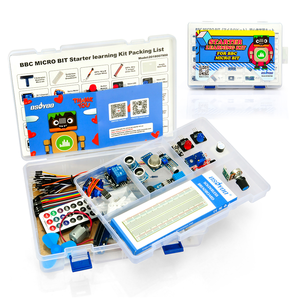 OSOYOO Starter Learning Kit For BBC Micro bit Programming MicroPython for Beginners and kids Suitable for Stem EducationOSOYOO Starter Learning Kit For BBC Micro bit Programming MicroPython for Beginners and kids Suitable for Stem Education